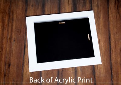 Back of Acrylic Print
